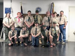 Callahan Boy Scout Troop 351 celebrates its successes Jan. 30 for the end of 2019 at its Court of Honor, a formal recognition ceremony. Over the past four months, the Scouts collectively earned 43 merit badges, including citizenship in the nation and world, cooking, robotics, pottery, digital technology and many others.