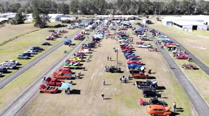 A total of 106 cars are on display at the Relay for Life Rod Run Jan. 25 at the Northeast Florida Fairgrounds. Several entrants won prizes and $2,487 was raised for the Relay for Life of Nassau County.
