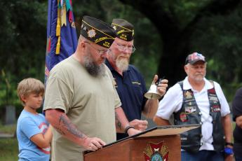 as a tribute to fallen comrades at Jones Cemetery Monday morning as VFW Post 10095, its auxiliary and the Blank Check Society hosted a Memorial Day service.