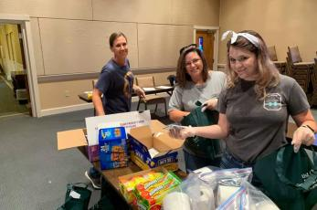 Callahan First Baptist Church volunteers spread cheer to students as they closed out the school year. The bags were filled with treats and essential items as well as encouraging messages.