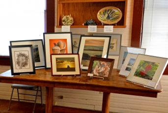 Art is displayed at the 2020 show. The next show is Jan. 30 and artists are encouraged to enter.
