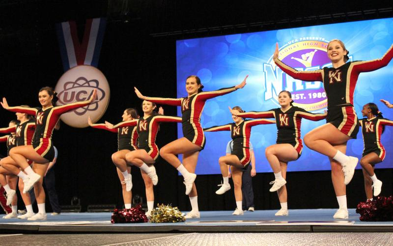 The West Nassau High School cheerleaders won state, national and world championships in 2019.